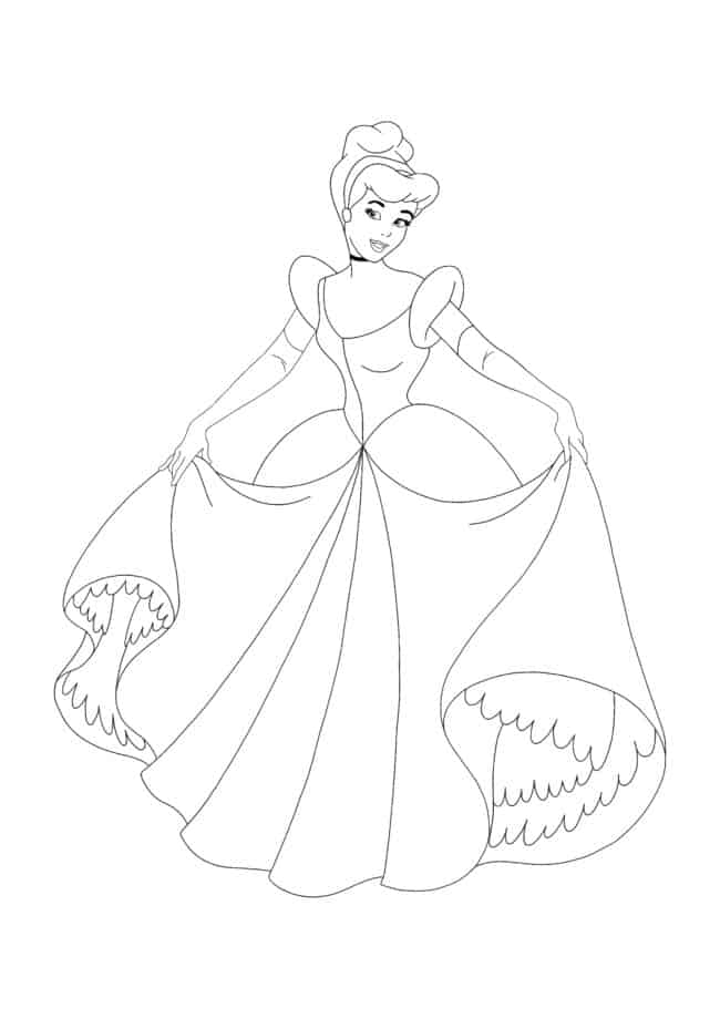 Disney Princess Cinderella coloring page