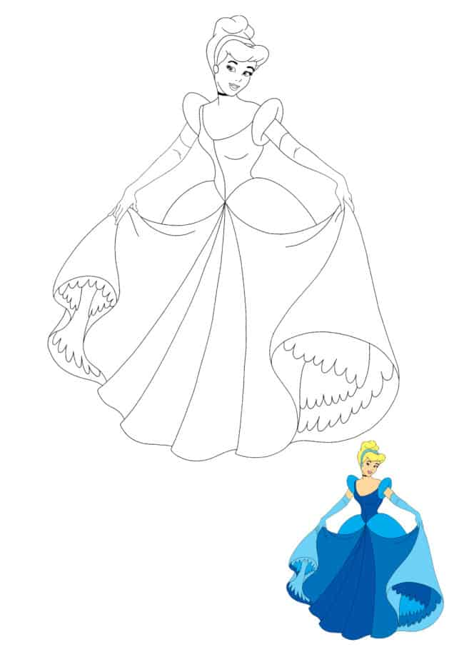 Disney Princess Cinderella coloring sheet