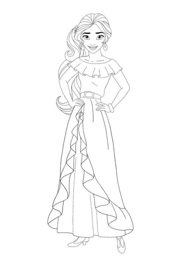 Coloriage Disney Princesse Elena