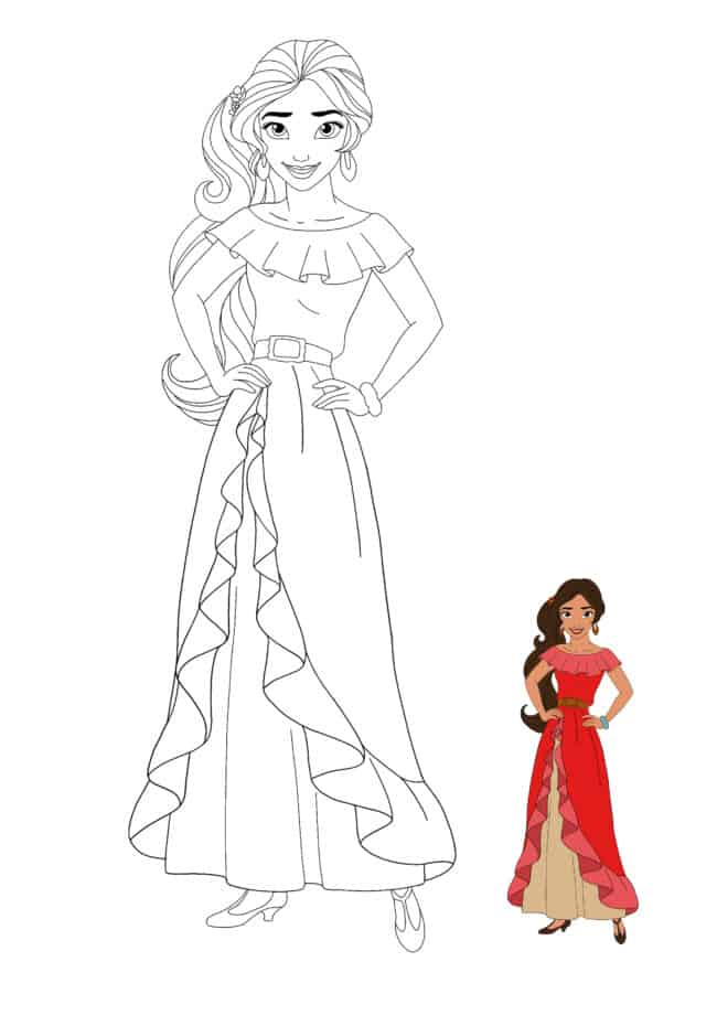 Disney Princess Elena coloring sheet