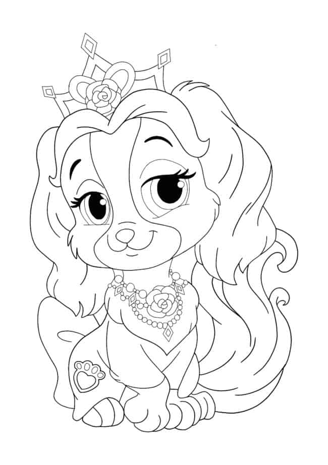 Disney Princess Palace Pets Teacup coloring page