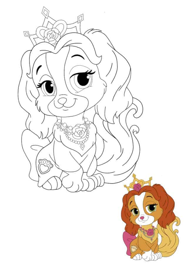 Disney Princess Palace Pets Teacup coloring page with preview