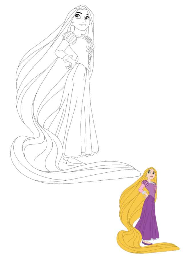 Disney Princess Rapunzel coloring sheet