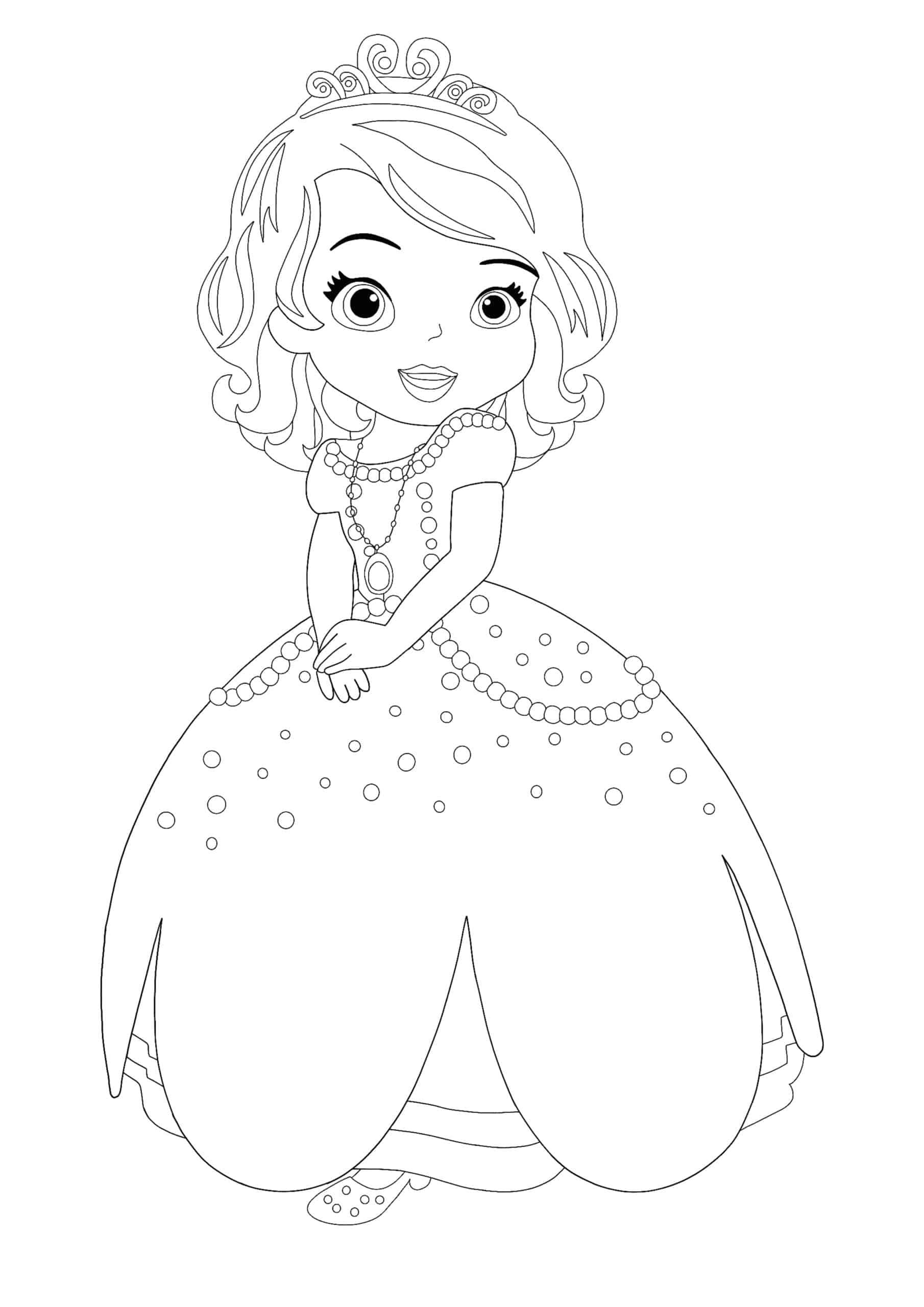 Disney Princess Sofia coloring page
