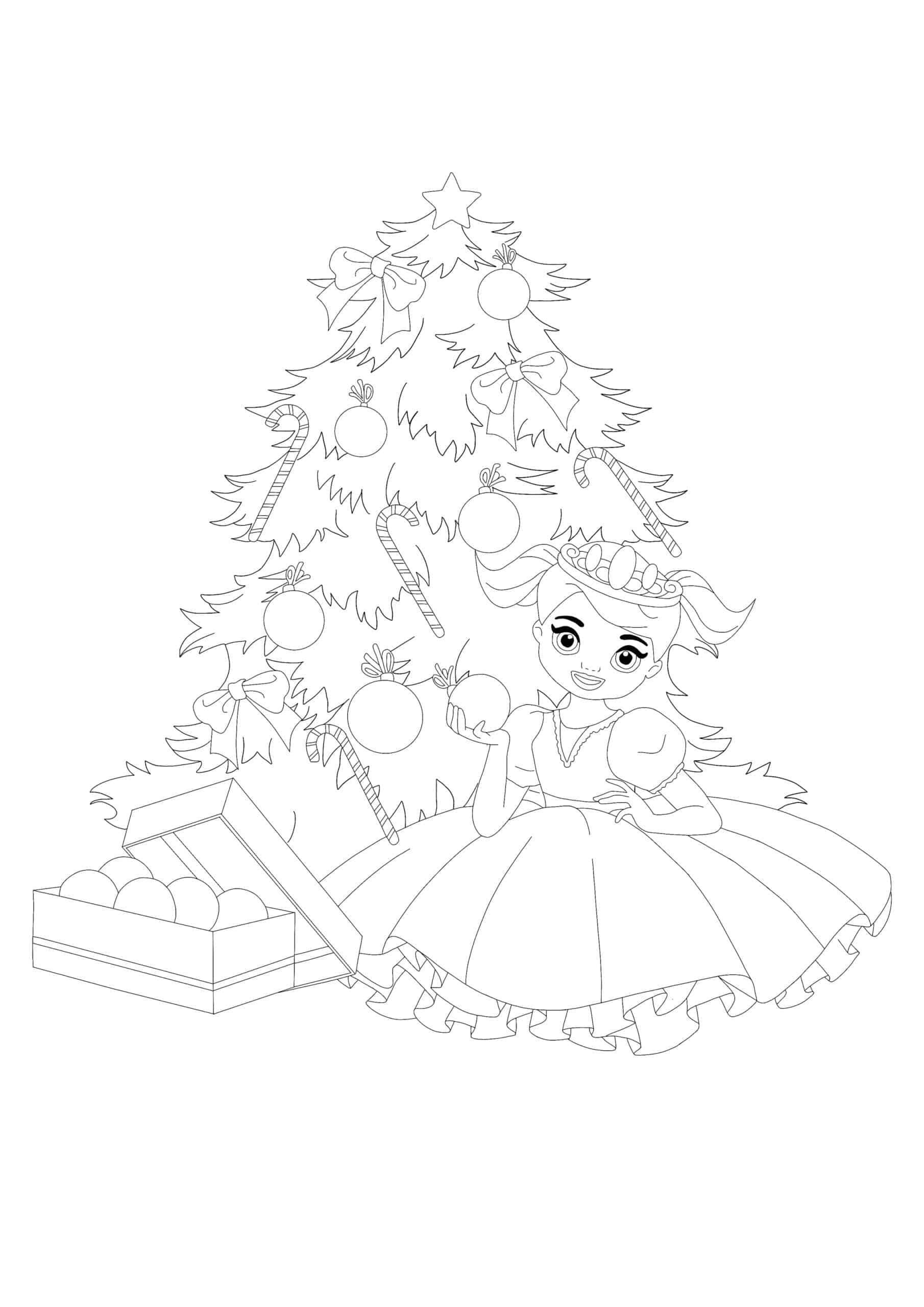 Little Princess Decorating Christmas Tree