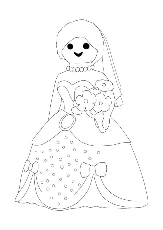 Playmobil Princess coloring page