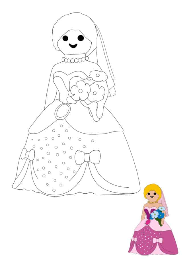 Playmobil Princess coloring sheet