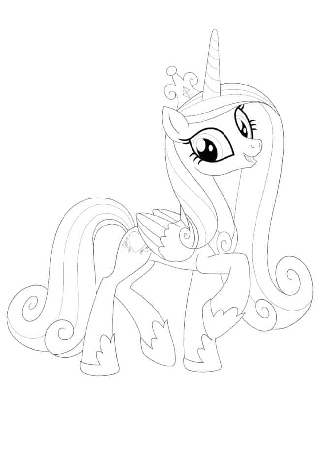 Coloriage My Little Pony Princesse Cadence