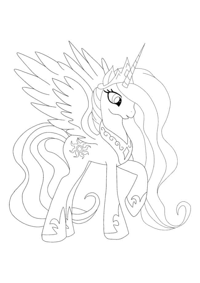 Coloriage Princess Celestia