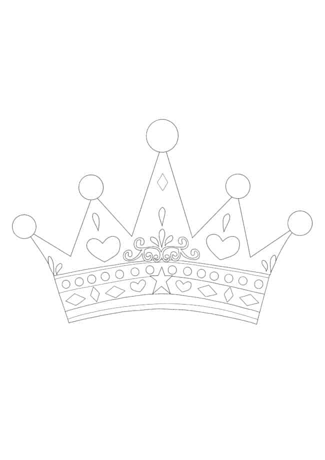 Princess Crown coloring page