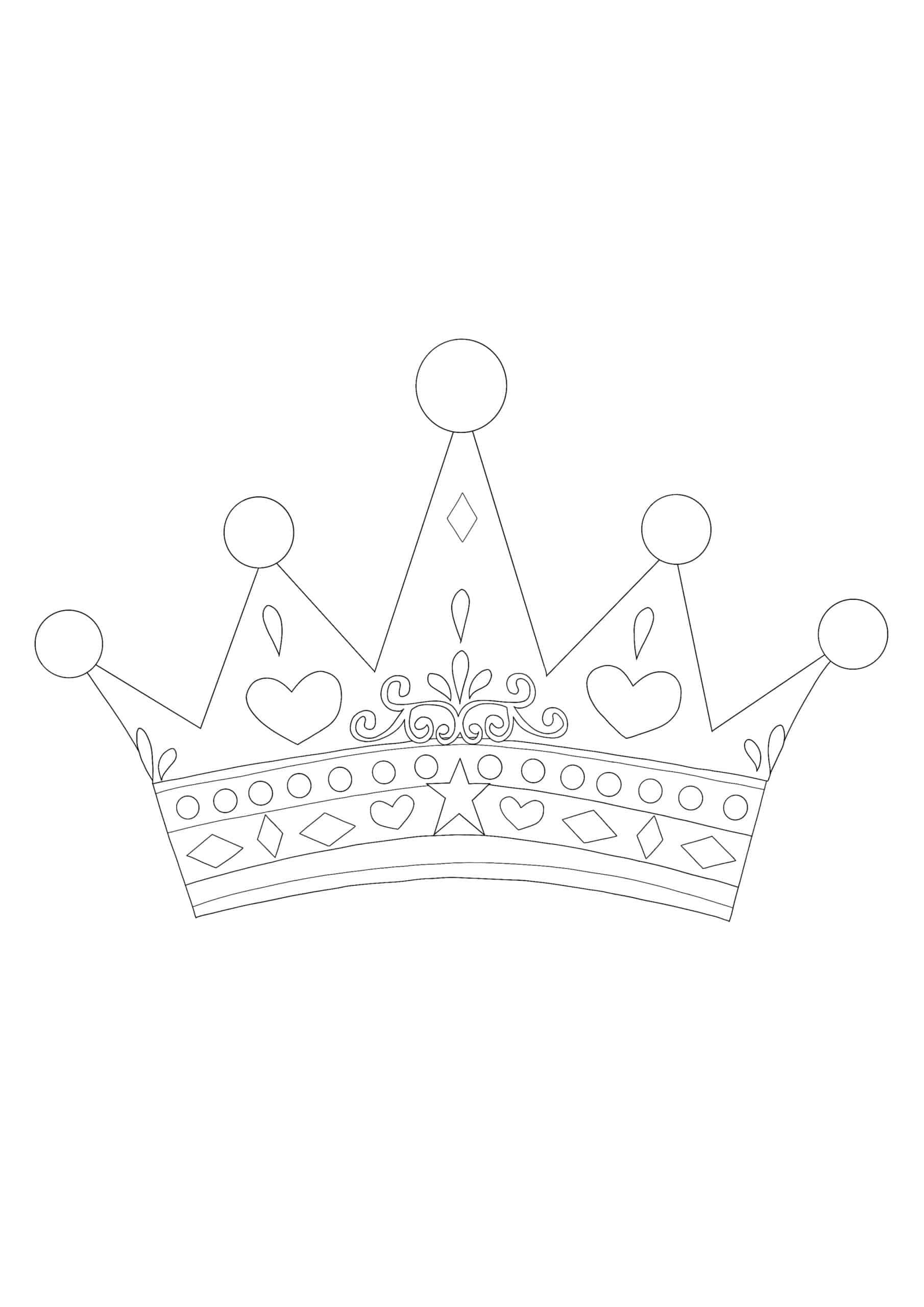 Coloriage Couronne Princesse