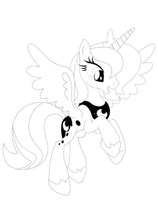 Coloriage My Little Pony Princesse Luna