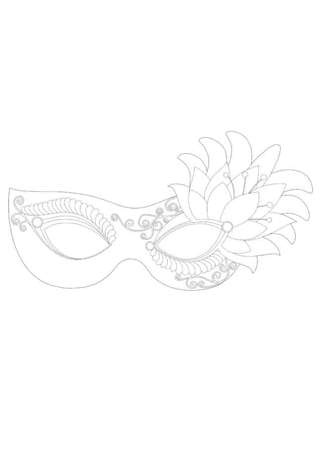 Coloriage Masque Princesse