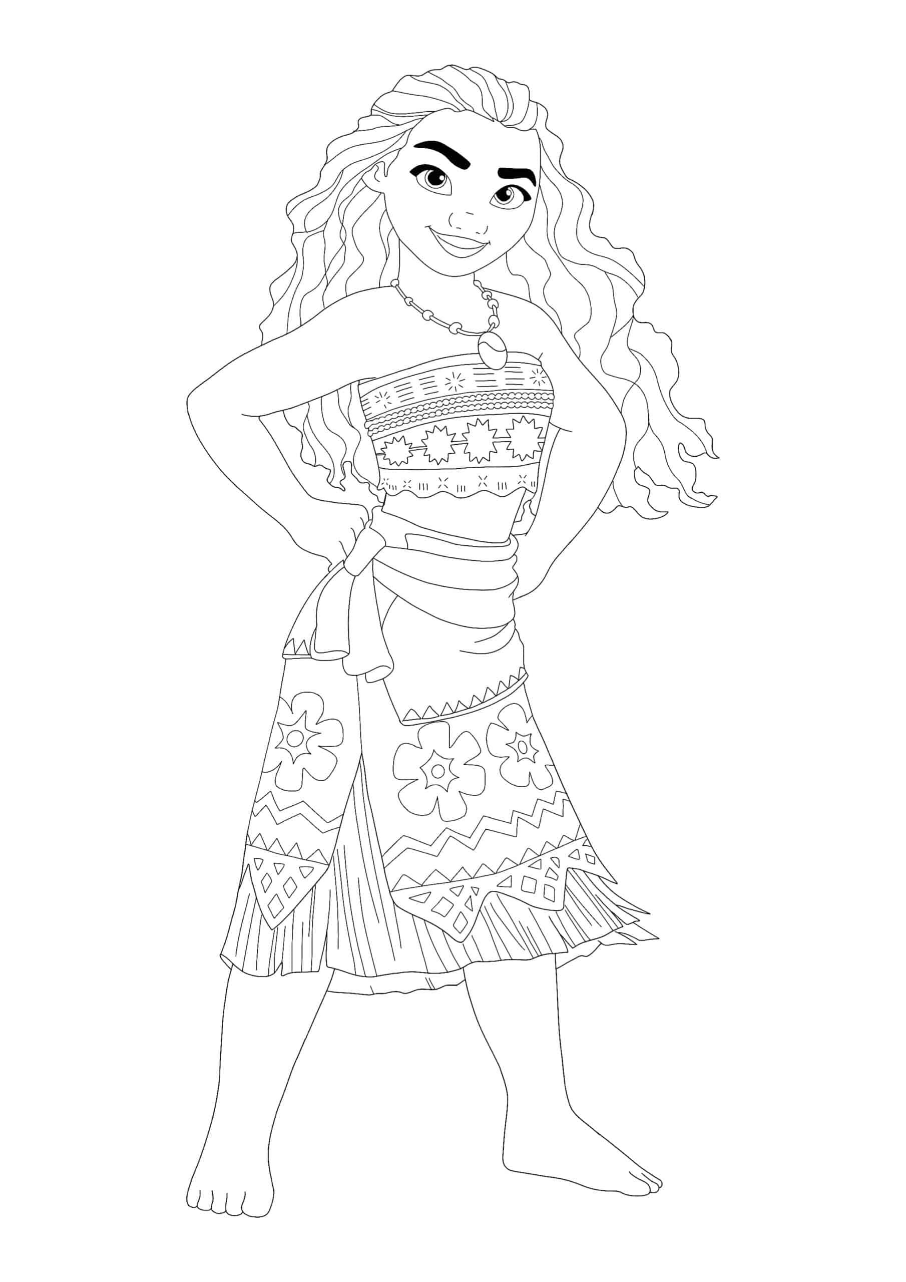 Coloriage Princesse Vaiana