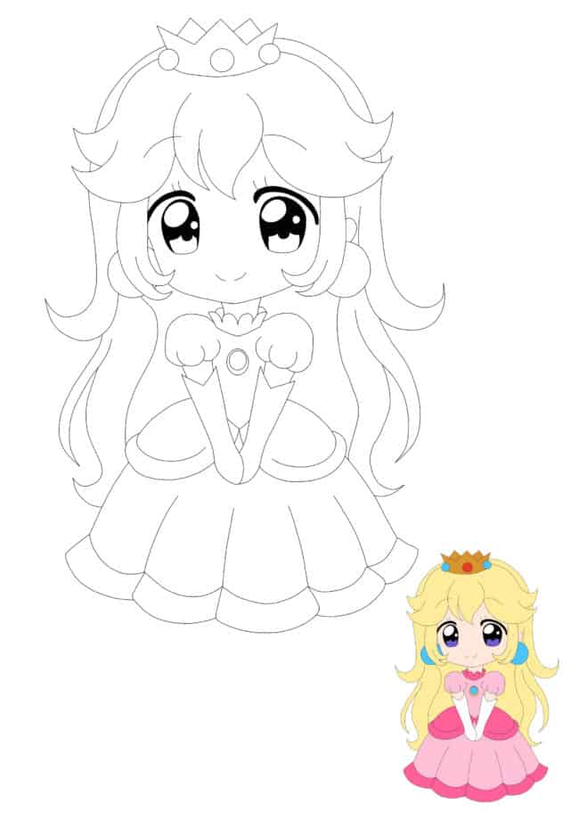 Coloriage En Ligne Peach Anime