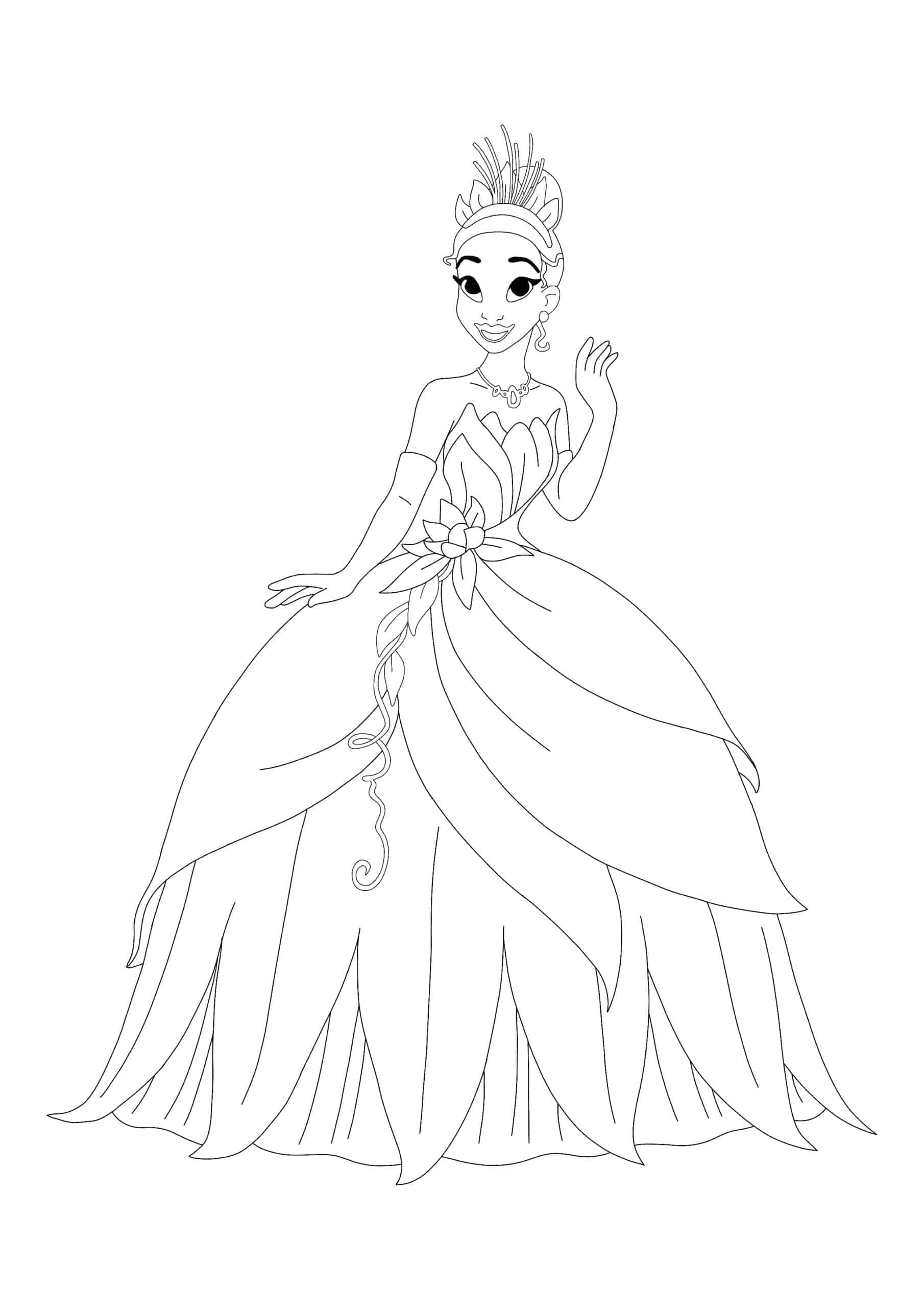 Princess Tiana coloring page