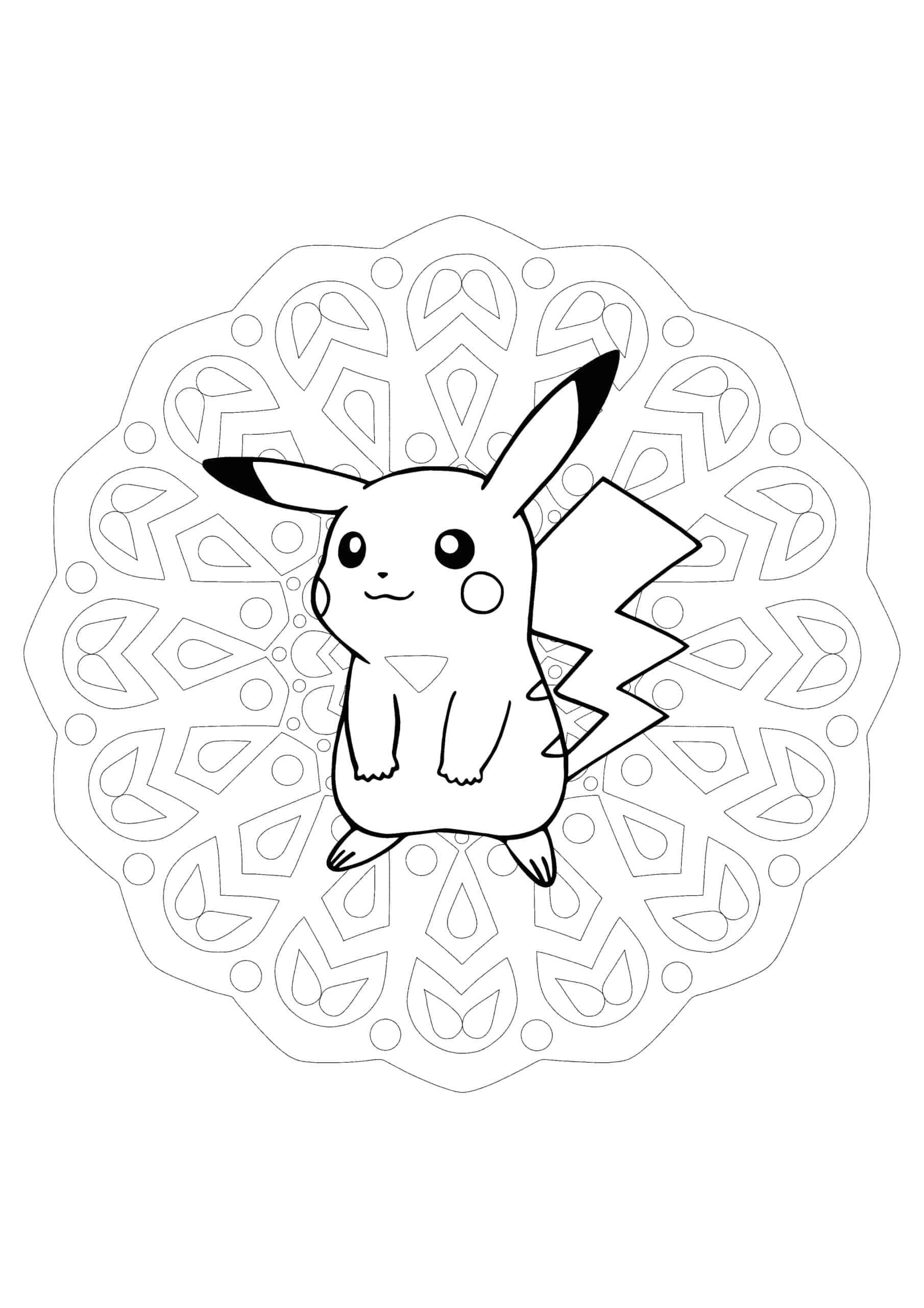 Pikachu Mandala coloring page