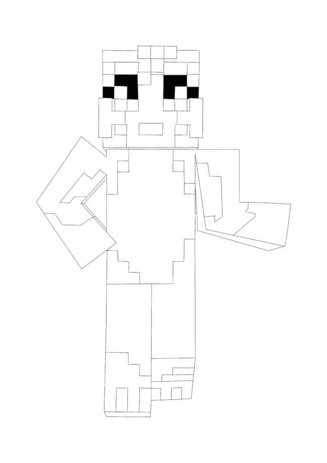 Minecraft Stampy Cat coloring page