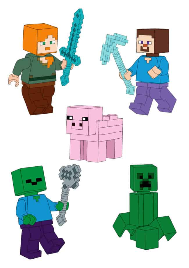 Image with Minecraft Lego Characters