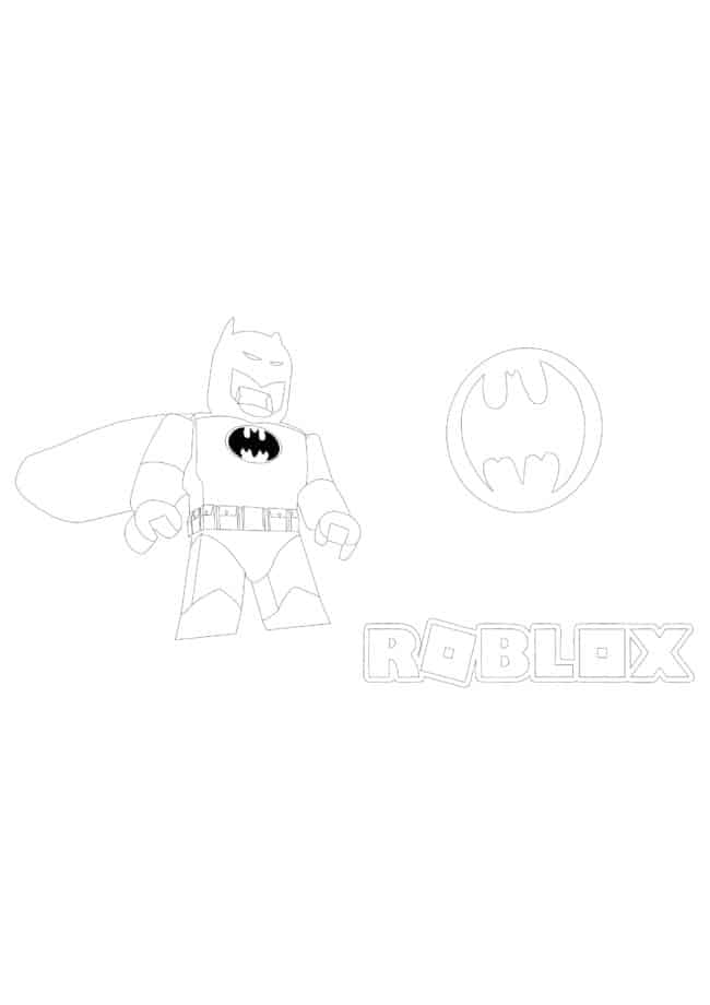 Coloriage Roblox Batman