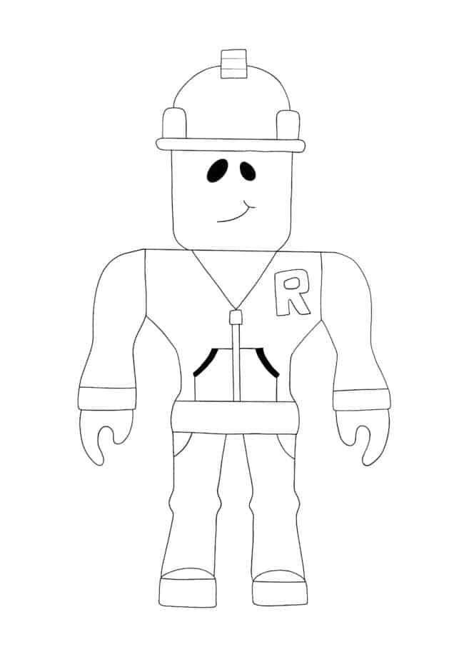 Coloriage Roblox Builderman