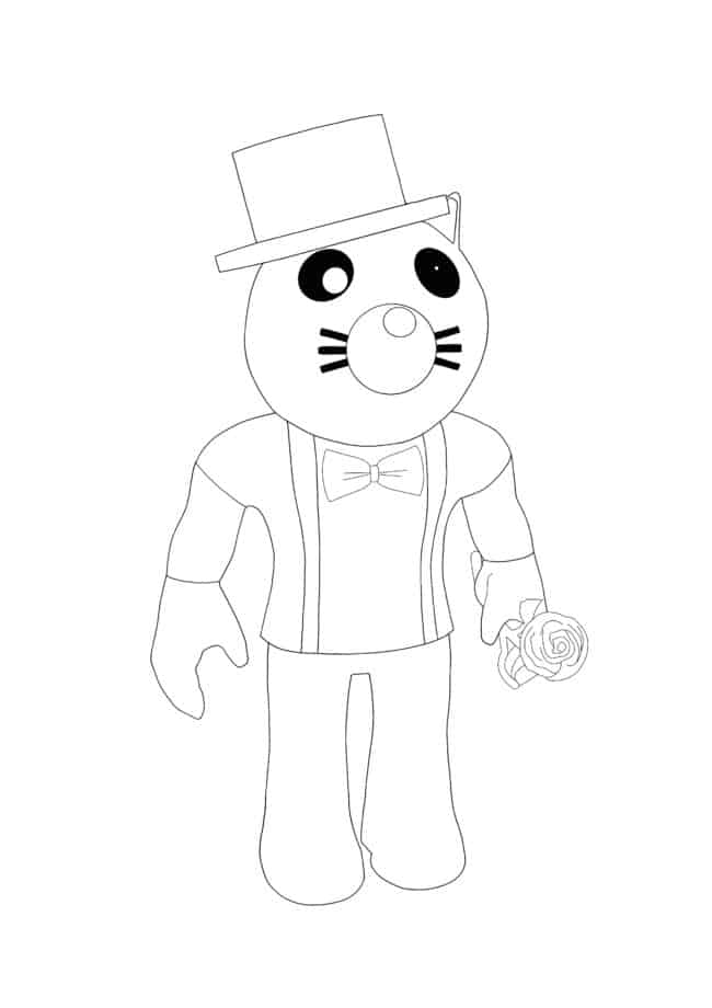 Roblox Felix coloring page