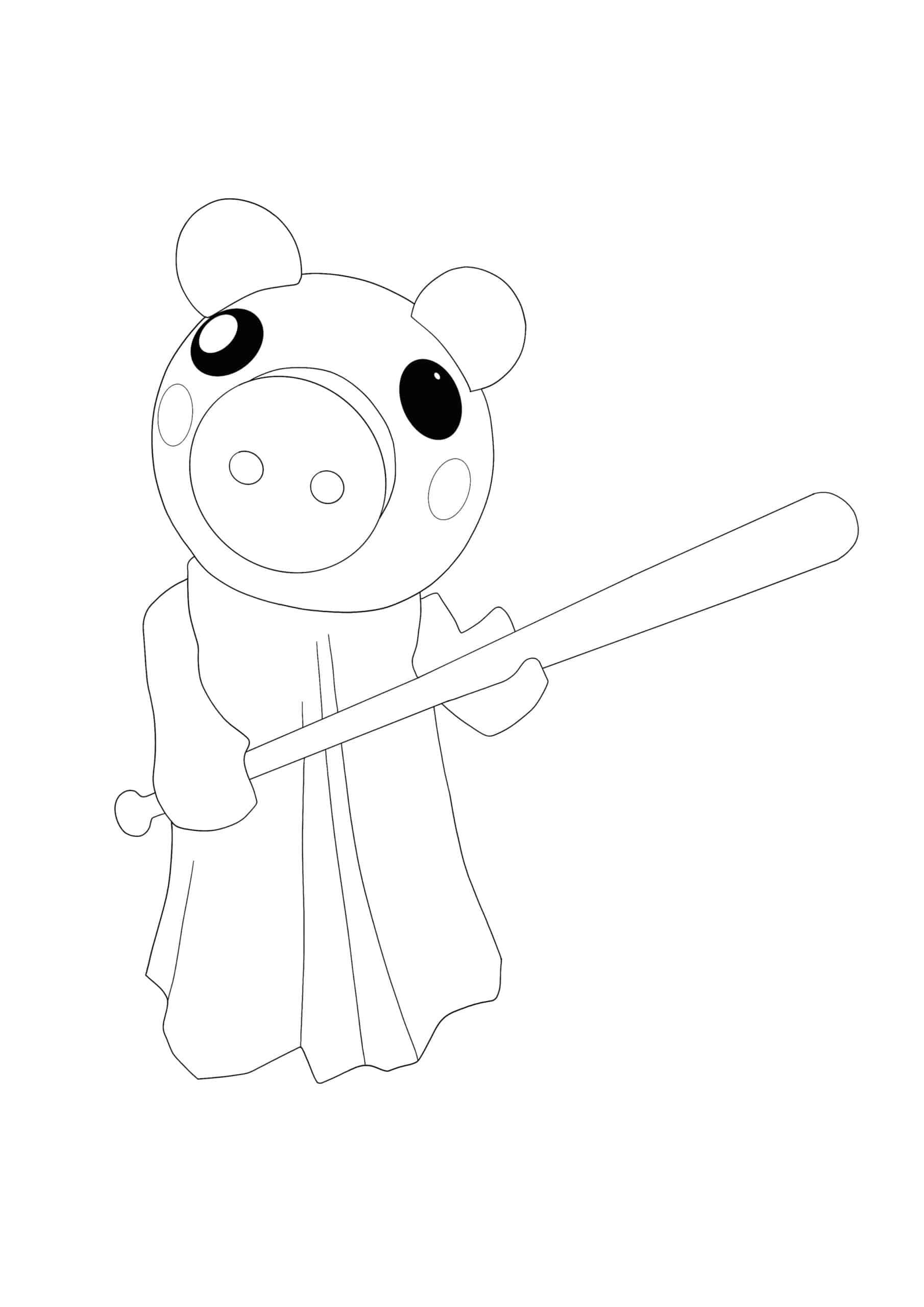 Coloriage Roblox Piggy