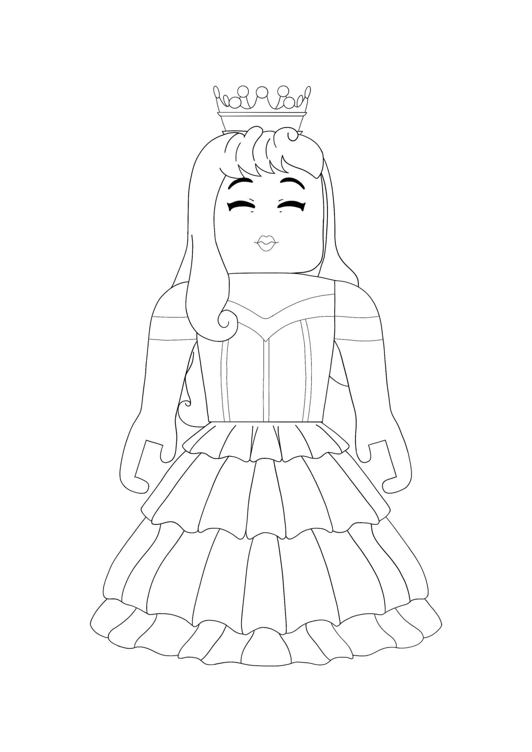 Roblox Princess coloring page