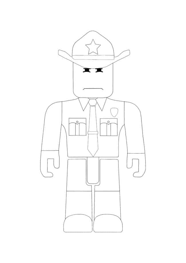 Roblox Sheriff coloring page