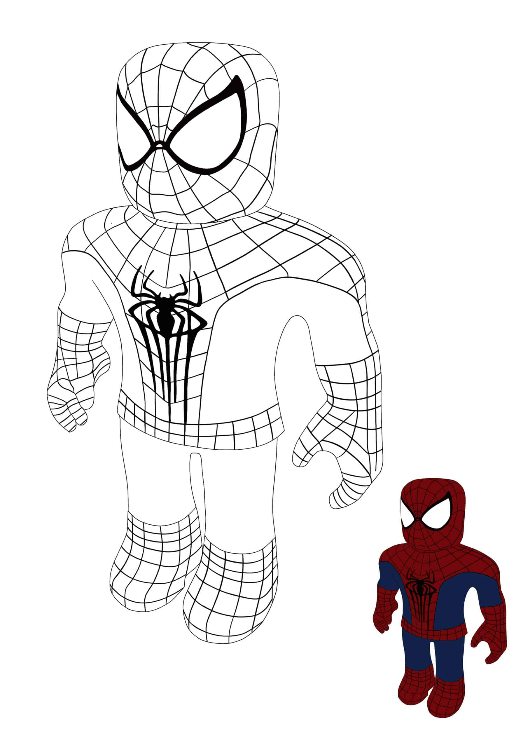 Roblox Spiderman coloring page for boys and girls