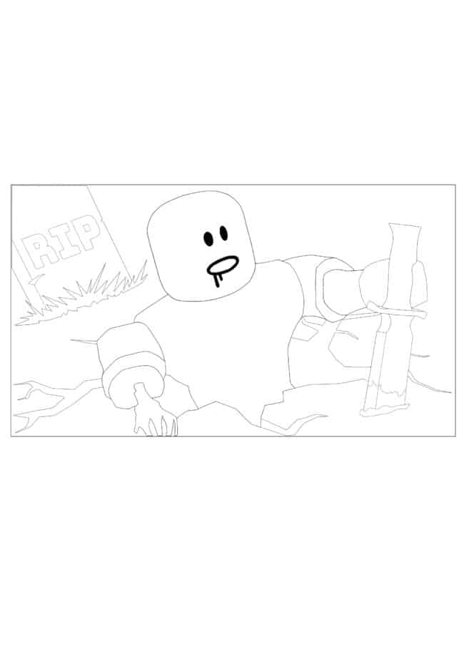 Roblox Zombie coloring page