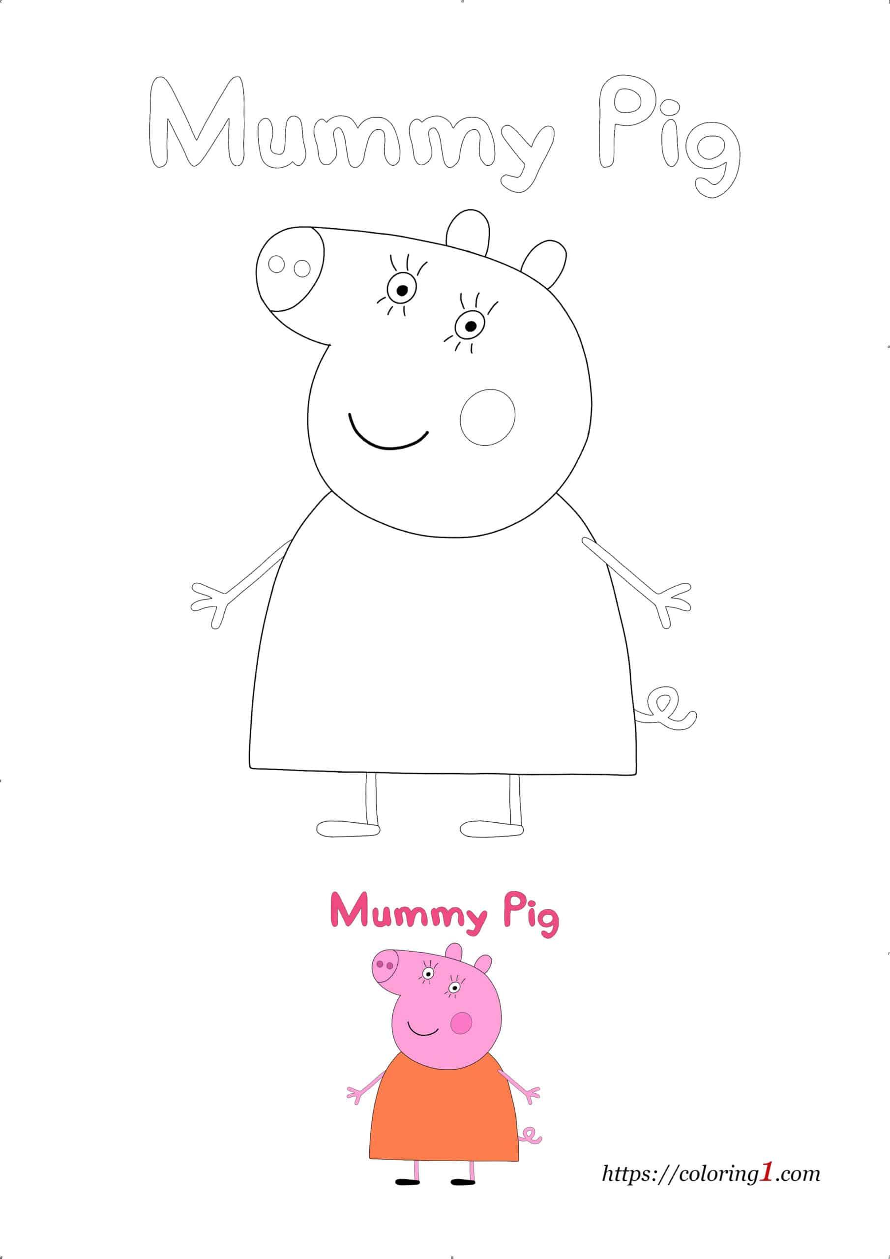 Coloriage Dessin De Peppa Pig Maman