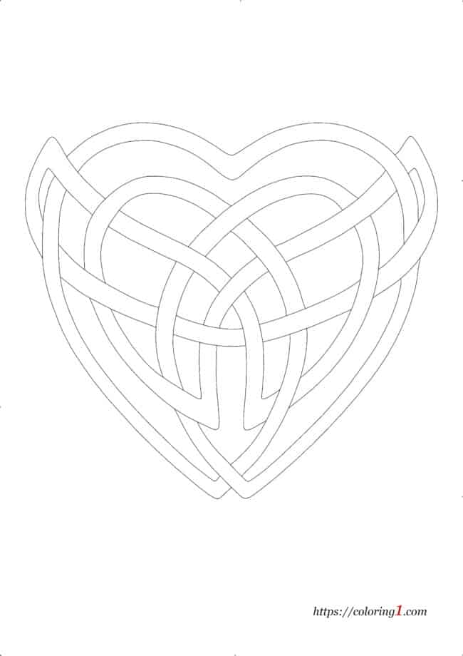 Celtic Heart coloring page