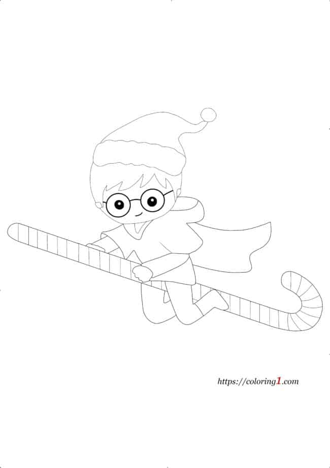 Coloriage Harry Potter Noel
