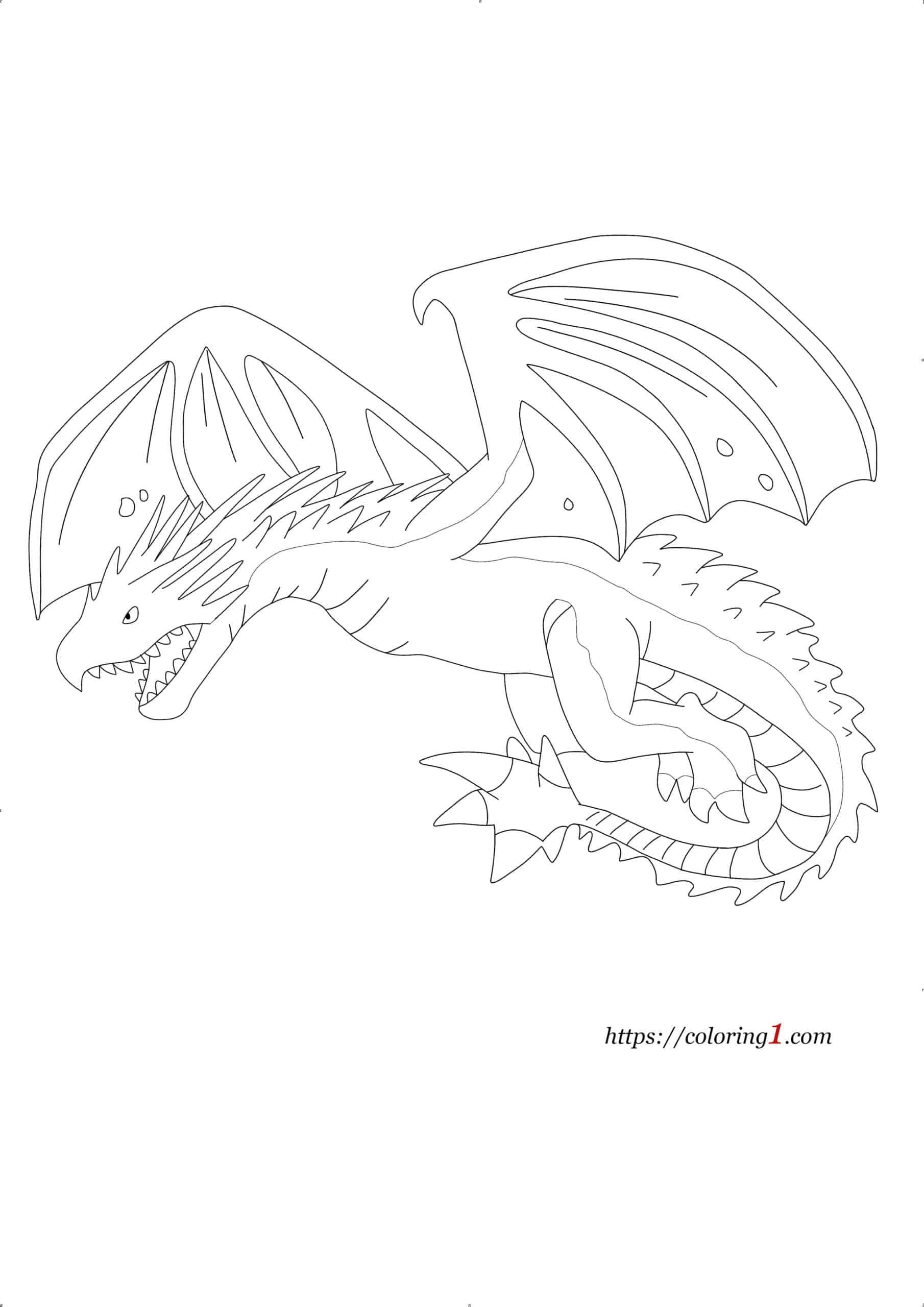 Coloriage Dragon Harry Potter