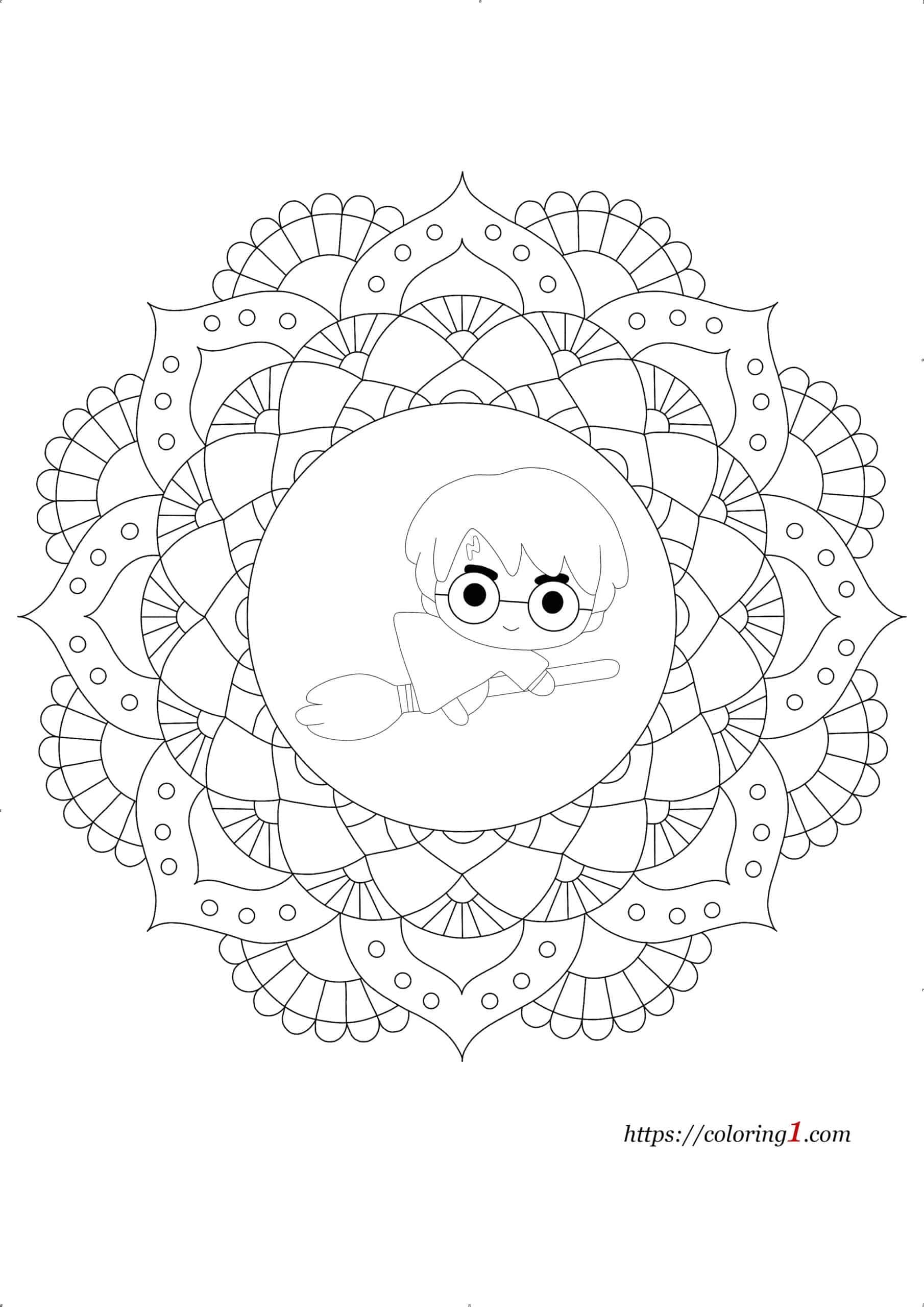 Coloriage Mandala Harry Potter