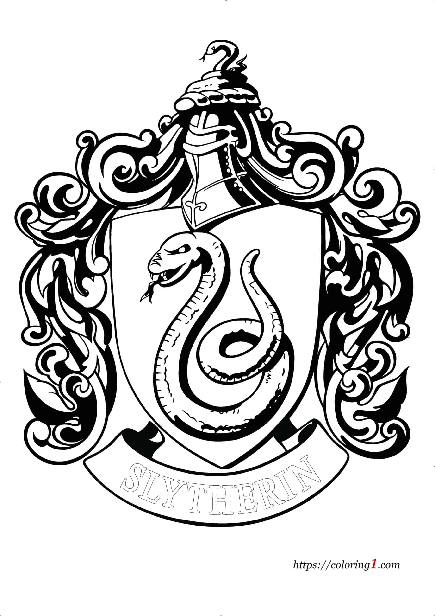 Coloriage Harry Potter Serpentard