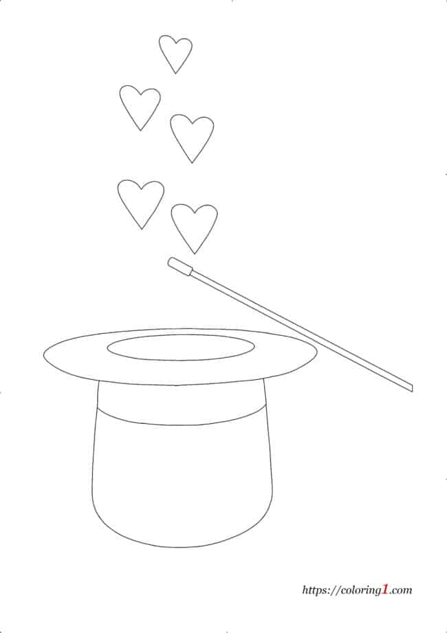 Magic Hearts coloring page for kids