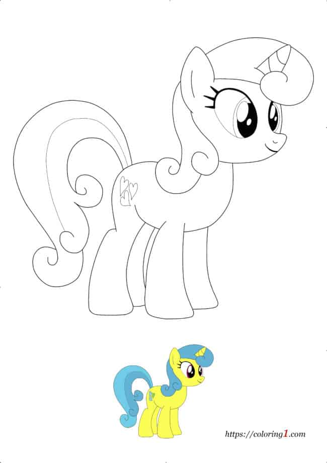 My Little Pony Lemon Hearts coloring sheet to print