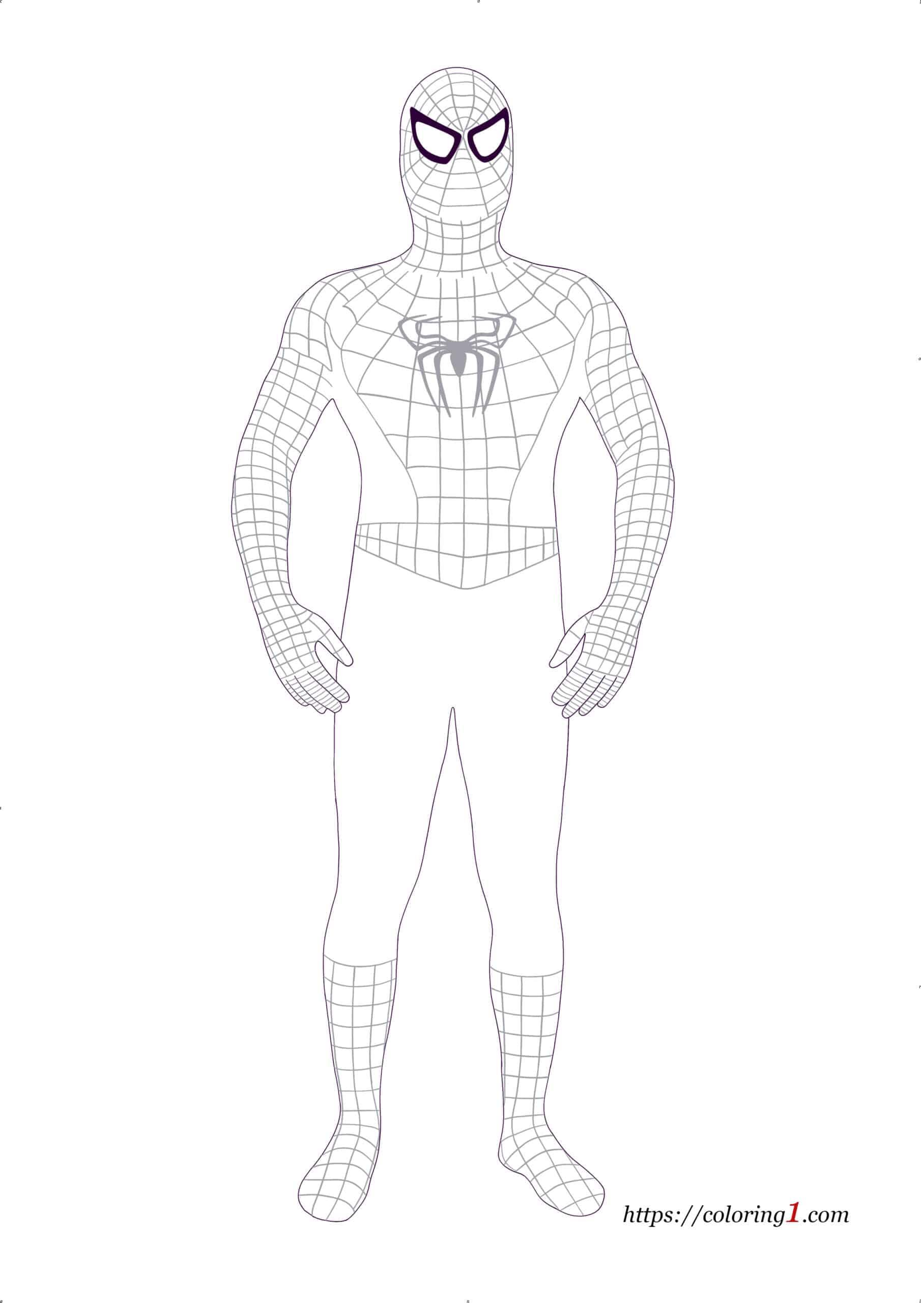 Black Spiderman coloring page
