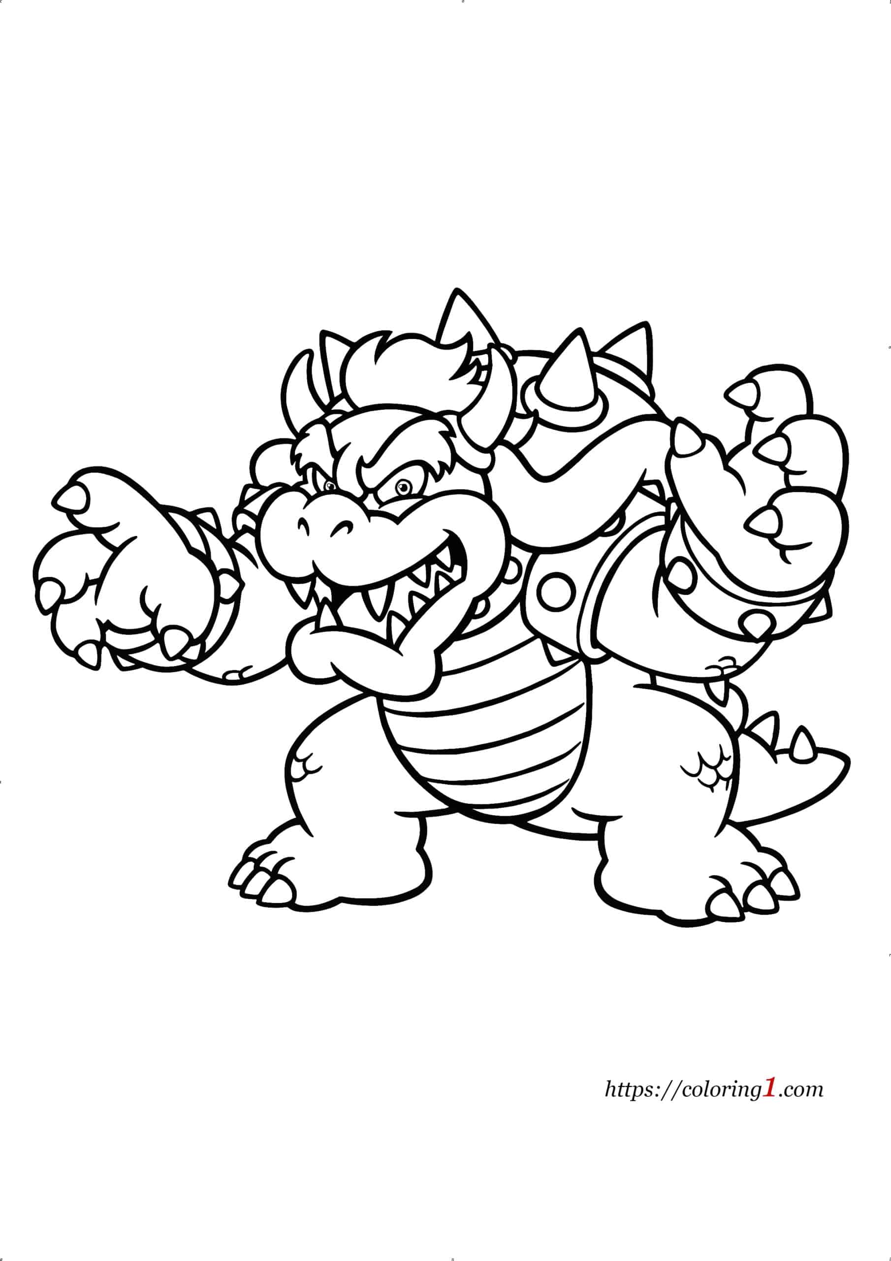 Coloriage Mario Bowser