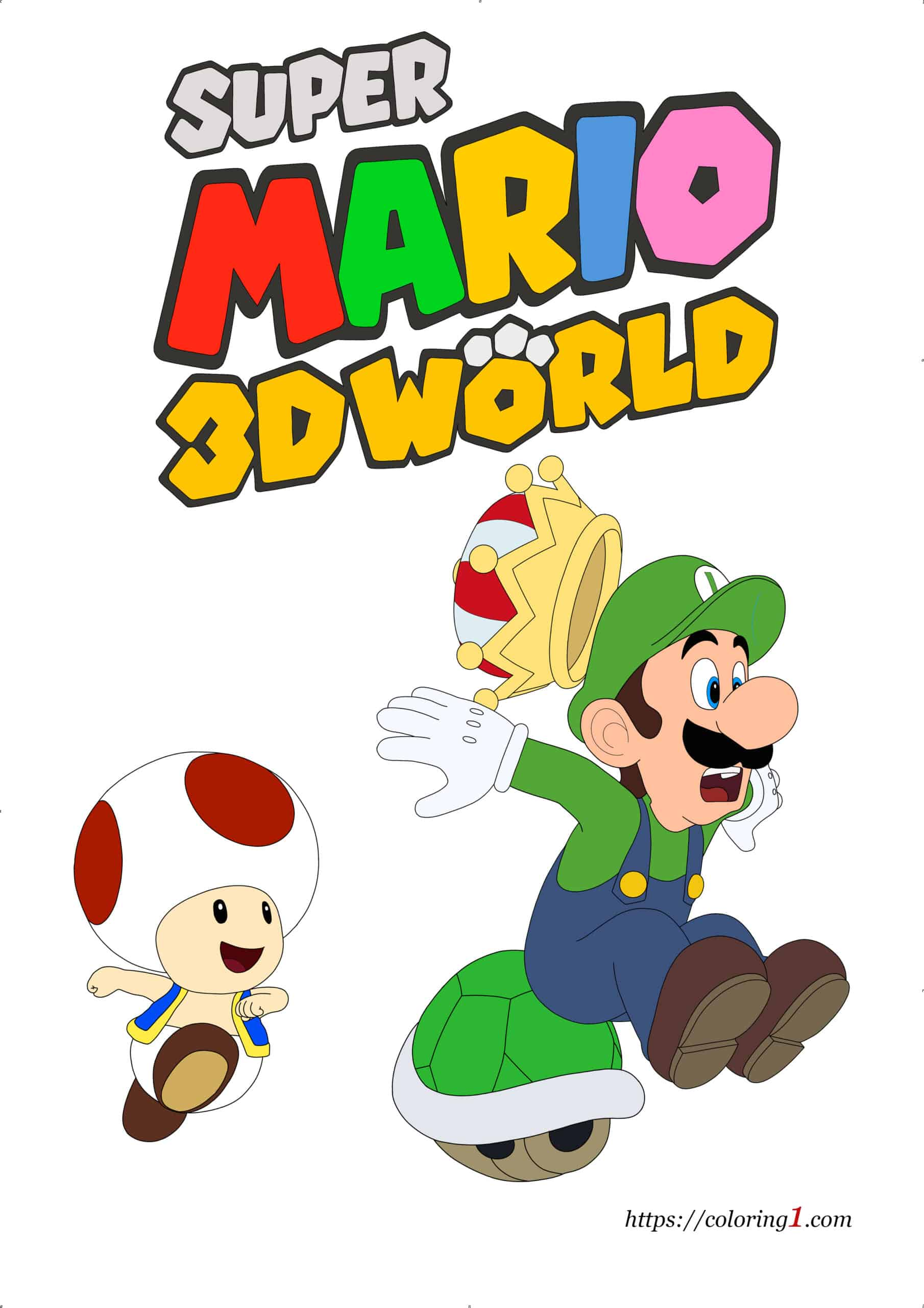 Super Mario 3D World image hew to color jpg