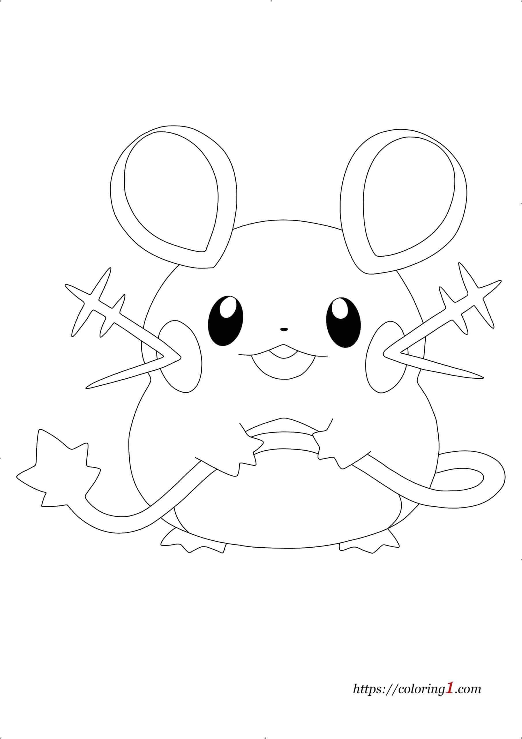 Coloriage Pokemon Alola Dedenne