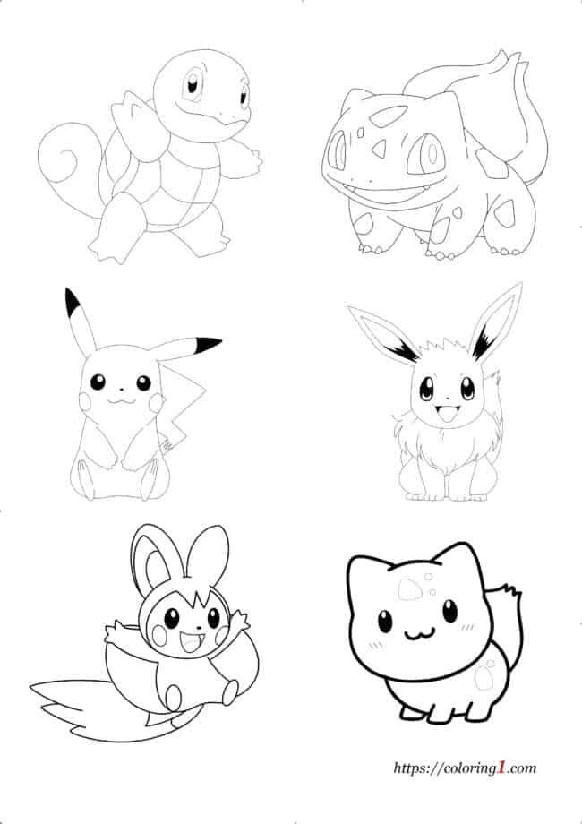 Coloriage Pokemon Personnages