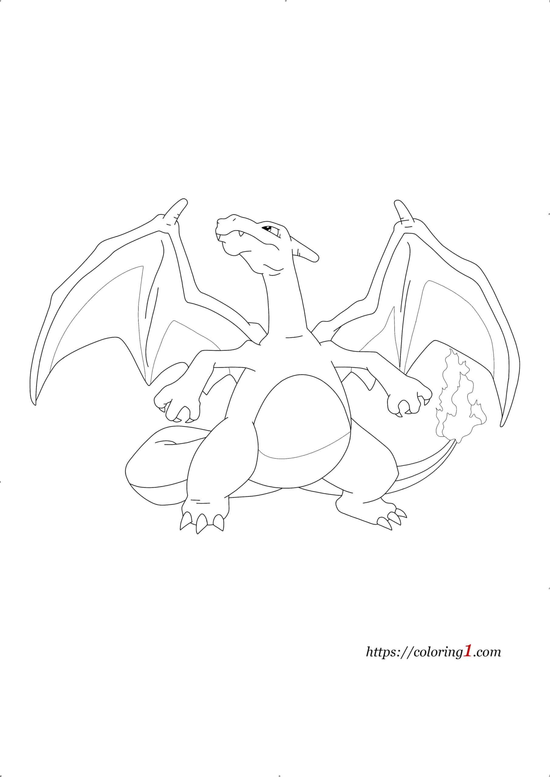 Pokemon Charizard coloring page