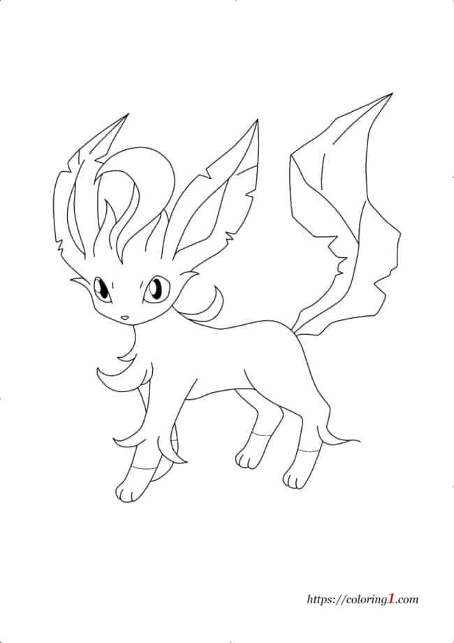 Coloriage Évolutions de Pokemon Evoli - Phyllali
