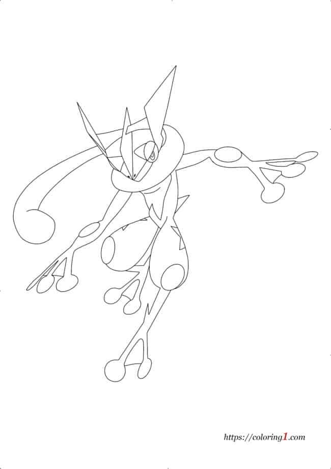Coloriage Pokemon Amphinobi