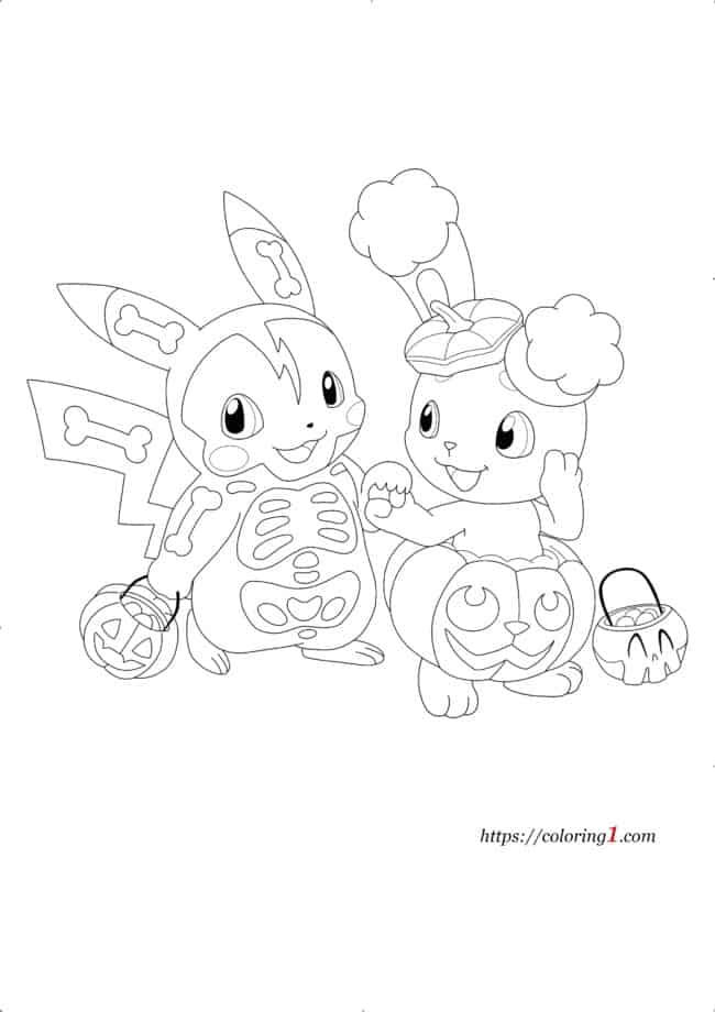 Coloriage Pokemon Halloween