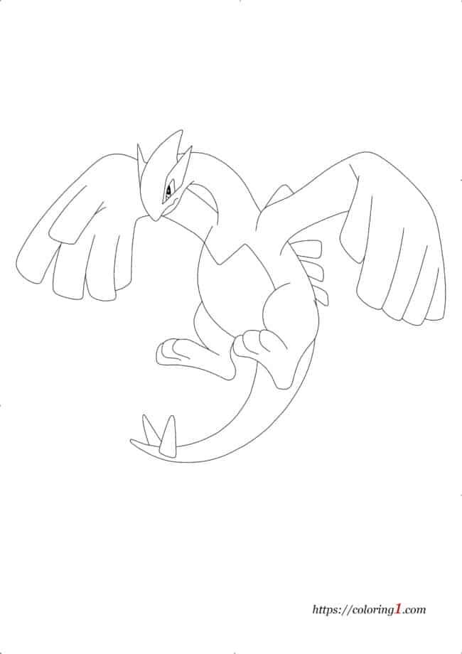 Coloriage Pokemon Legendaire Lugia