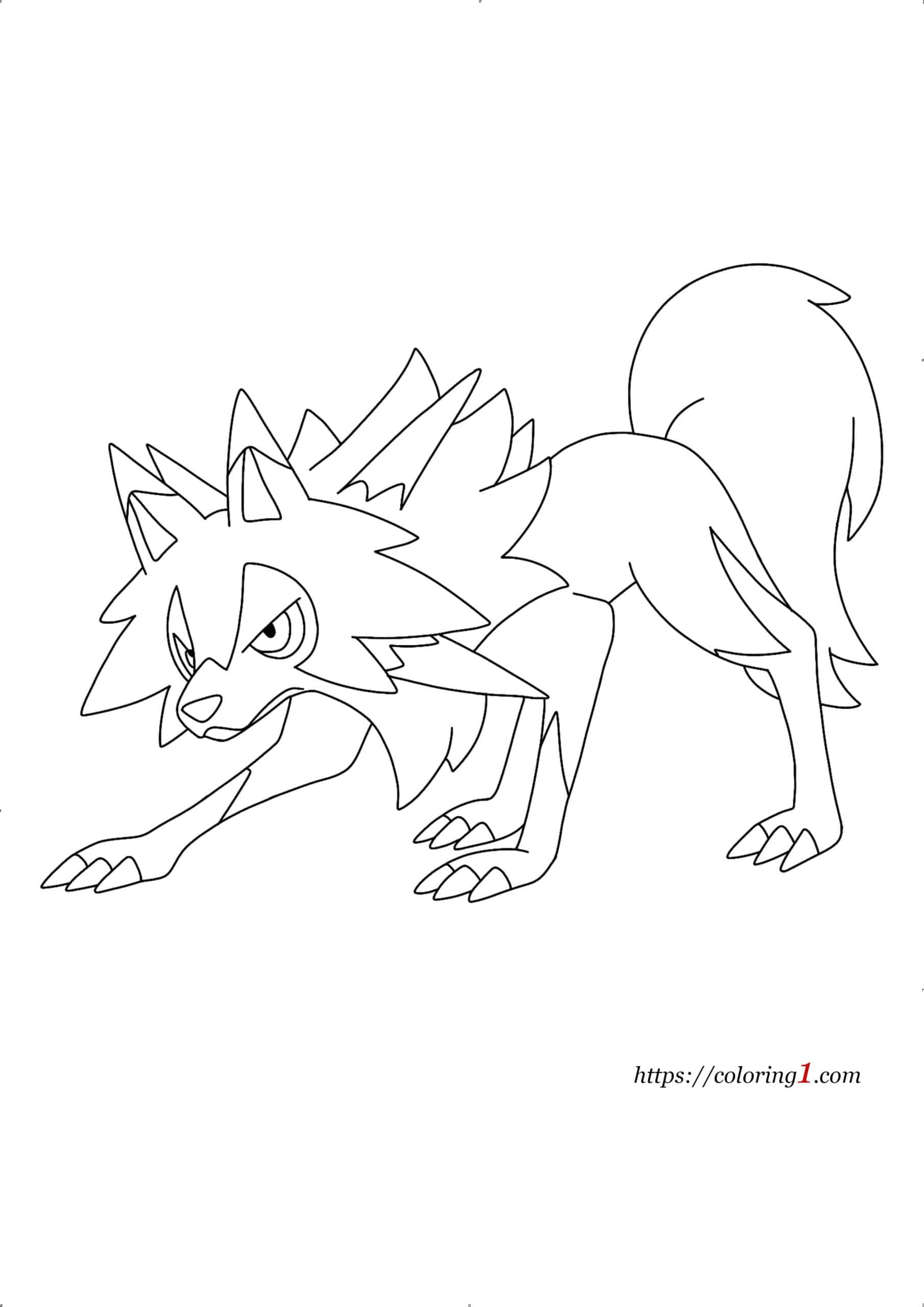 Pokemon Lycanroc coloring page